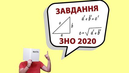 Математика на ЗНО 2020 - фото 1
