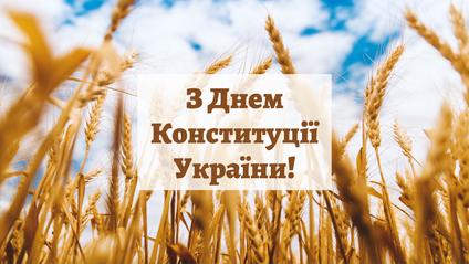 Вітаю з Днем Конституції України! - фото 1