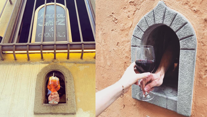 """У Тоскані напої та їжу подають крізь спеціальні """"винні вікна"""" - фото 1"""