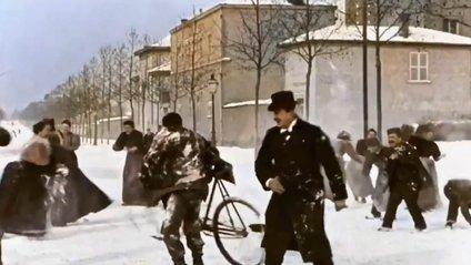 Гра у сніжки у 1896 році - фото 1