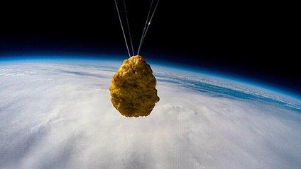 У Великобританії в космос запустили наггетс: відео - фото 1