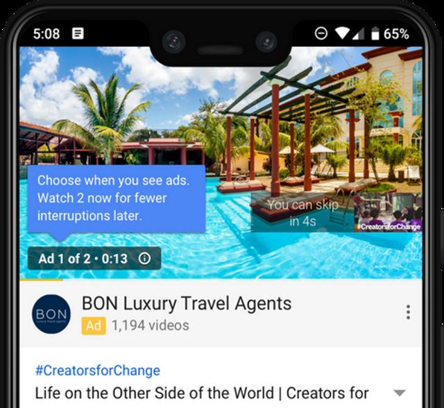 YouTube тестує новий алгоритм показу рекламних роликів - фото 290589