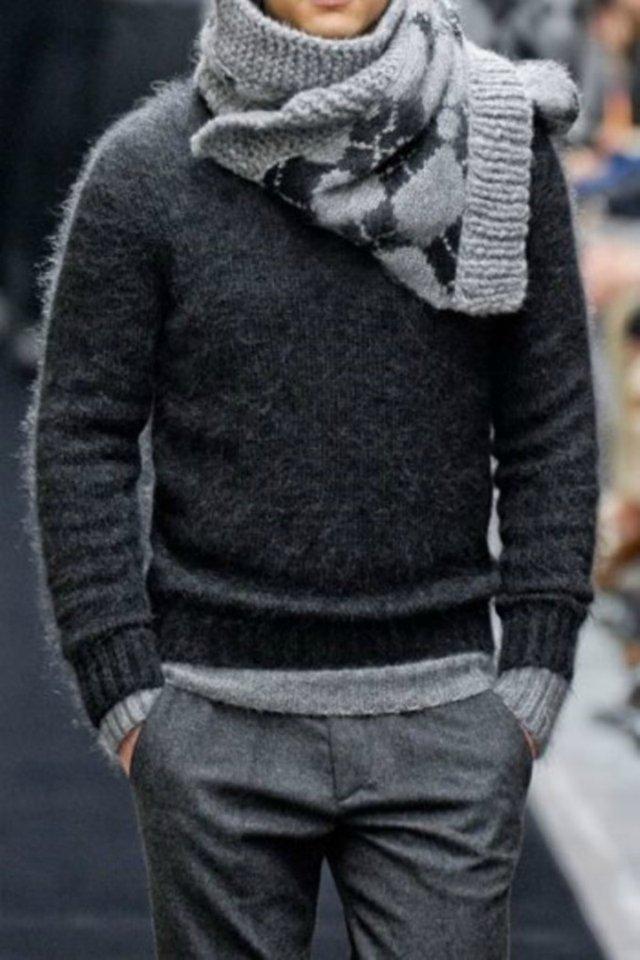 Шерстяний светр і вовняні штани – рятують взиму - фото 292354