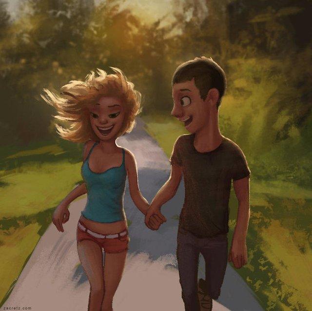 Чарівні ілюстрації про любов та почуття, які зігрівають серце - фото 292923