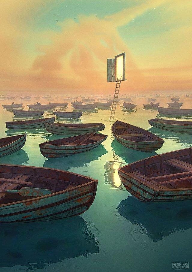 Неймовірні світи, які переносять у казку: ілюстрації - фото 293186