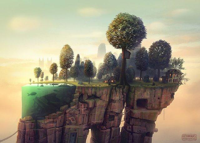 Неймовірні світи, які переносять у казку: ілюстрації - фото 293188