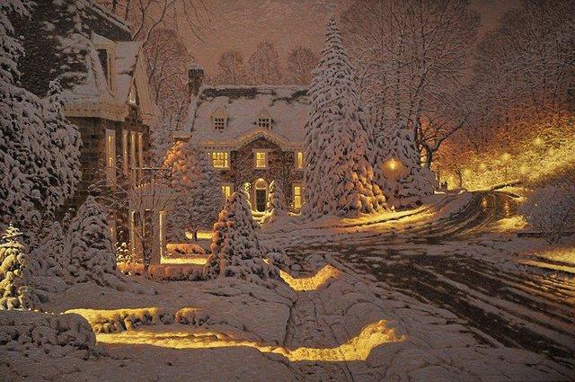 Затишні зимові картини міст, які дарують святковий настрій - фото 293717