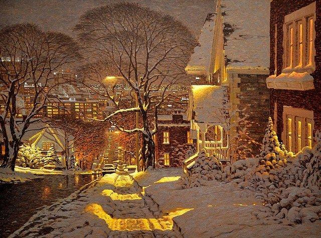 Затишні зимові картини міст, які дарують святковий настрій - фото 293730