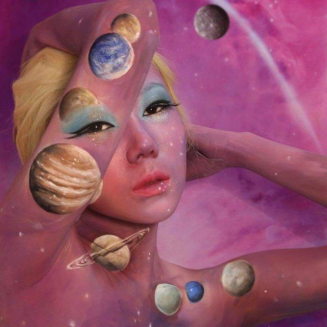 Моторошні оптичні ілюзії, створені за допомогою макіяжу - фото 294023
