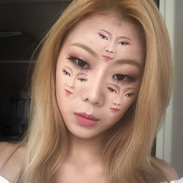 Моторошні оптичні ілюзії, створені за допомогою макіяжу - фото 294025