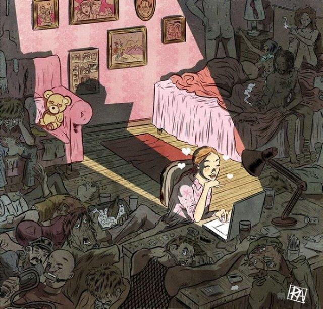 Жорстокі ілюстрації сучасного суспільства, які варто побачити - фото 294299