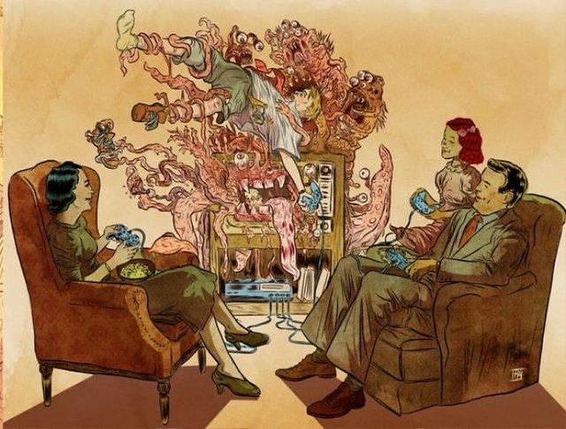Жорстокі ілюстрації сучасного суспільства, які варто побачити - фото 294301