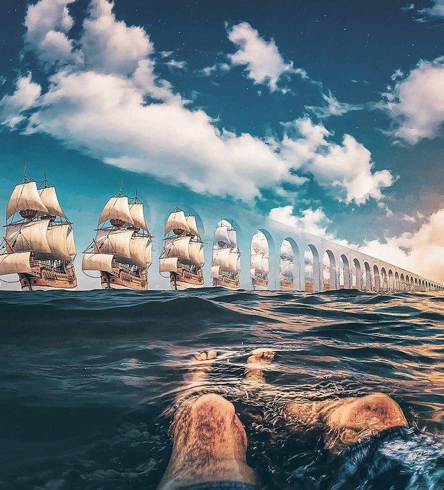 Неймовірний світ у роботах Джастіна Майна: ефектні фото - фото 295472