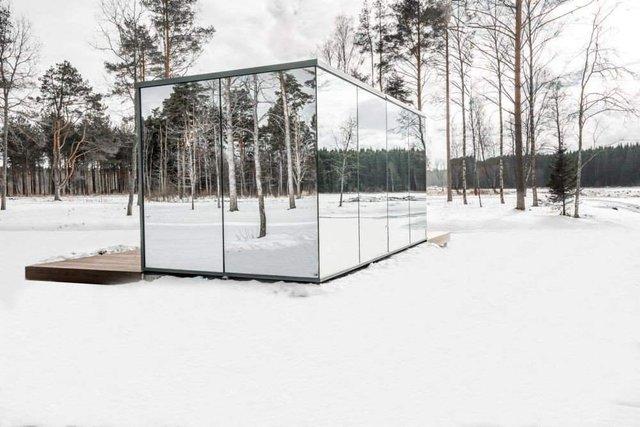 Роздивитися цей дзеркальний будинок дуже непросто - фото 296268