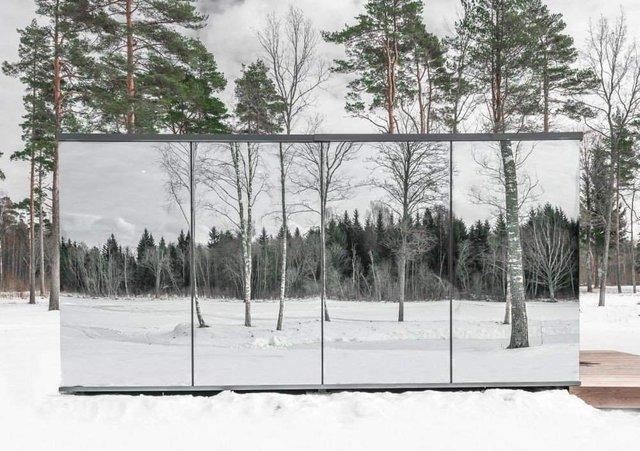 Роздивитися цей дзеркальний будинок дуже непросто - фото 296270