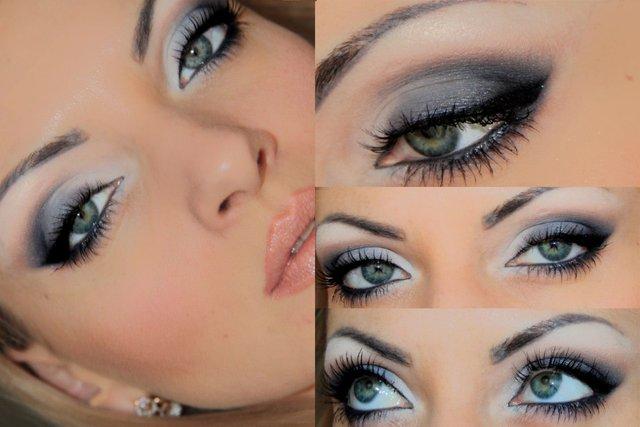 Новорічний макіяж під сірі очі    - фото 296730