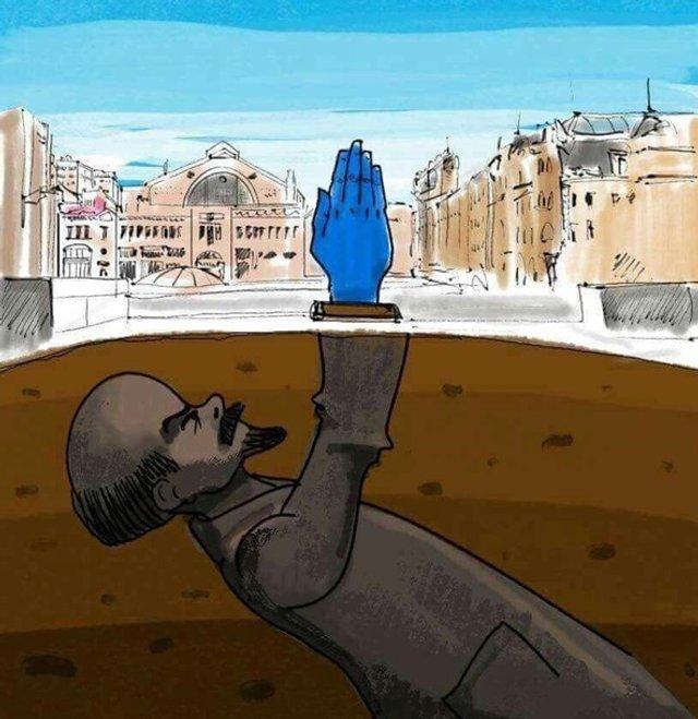 Синя рука у Києві - фото 296768