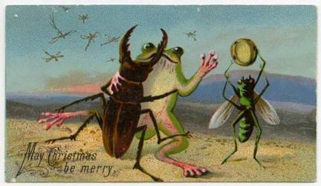 Так виглядали різдвяні листівки у Вікторіанську епоху - фото 296816