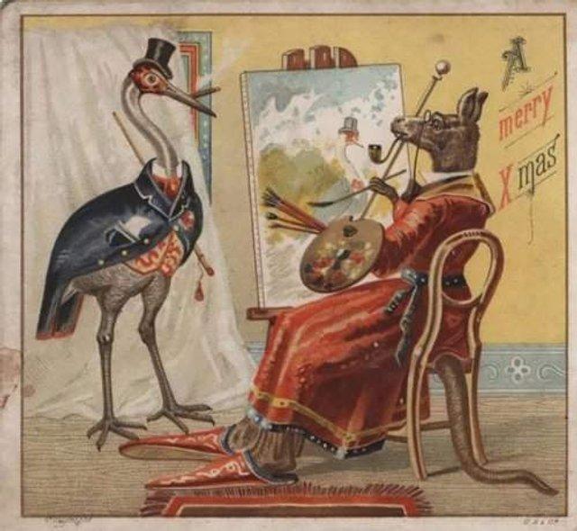 Так виглядали різдвяні листівки у Вікторіанську епоху - фото 296817