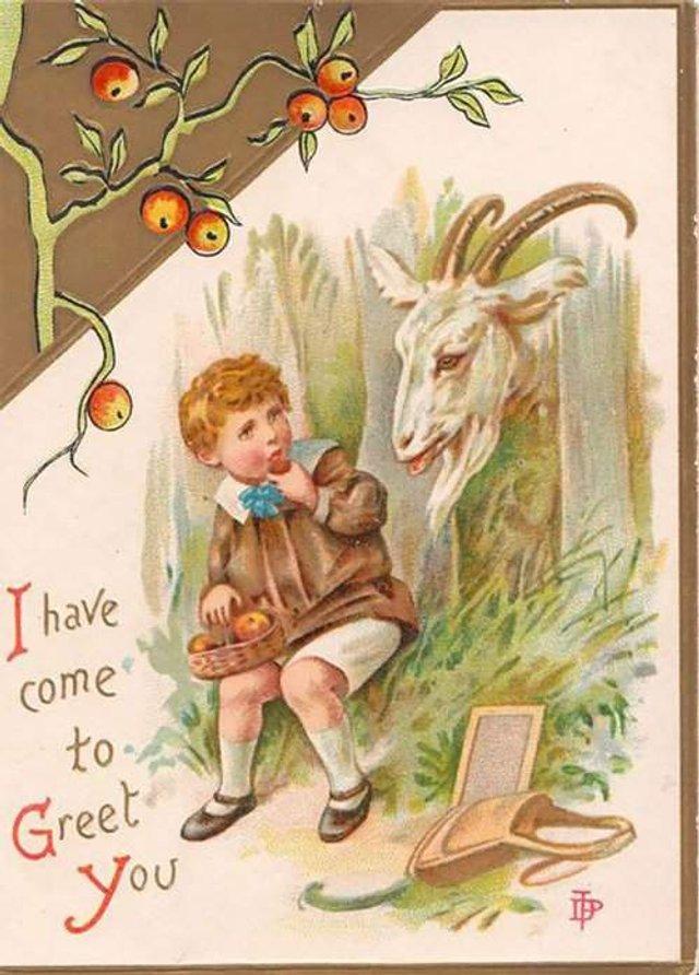 Так виглядали різдвяні листівки у Вікторіанську епоху - фото 296820