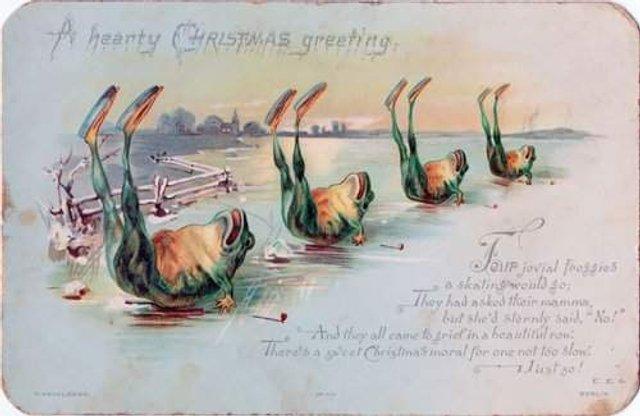 Так виглядали різдвяні листівки у Вікторіанську епоху - фото 296821