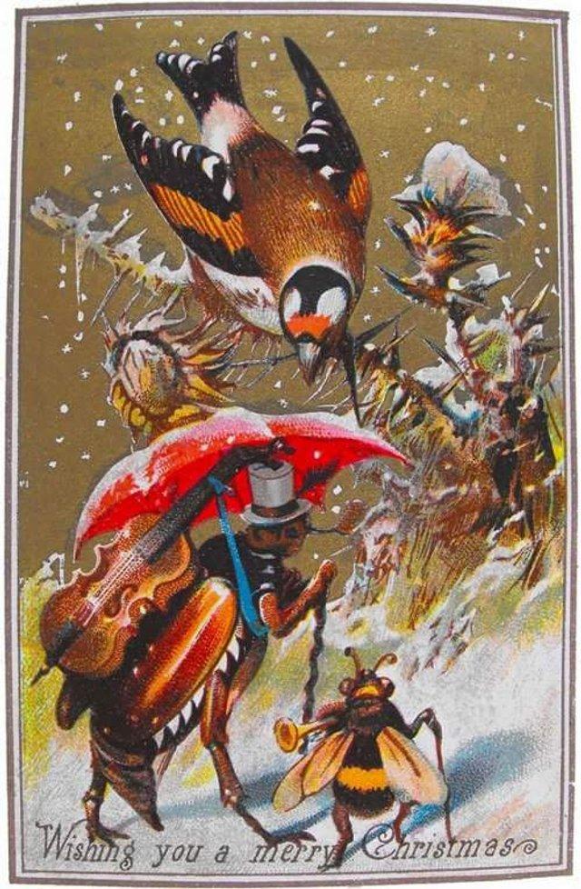 Так виглядали різдвяні листівки у Вікторіанську епоху - фото 296822