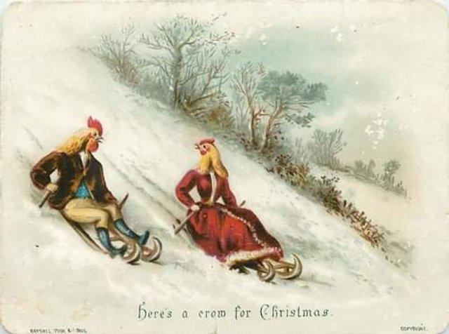Так виглядали різдвяні листівки у Вікторіанську епоху - фото 296823