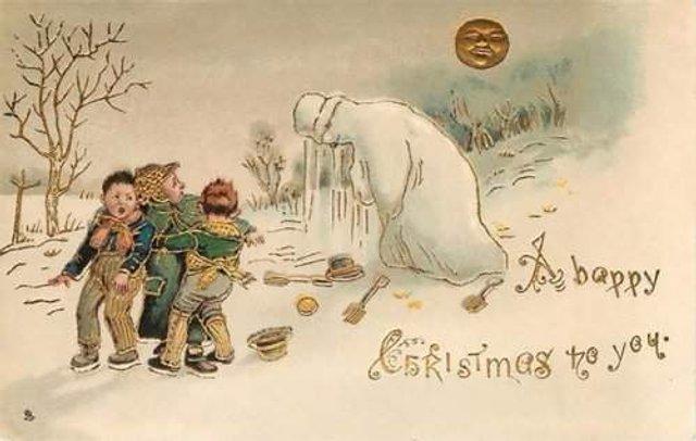 Так виглядали різдвяні листівки у Вікторіанську епоху - фото 296824