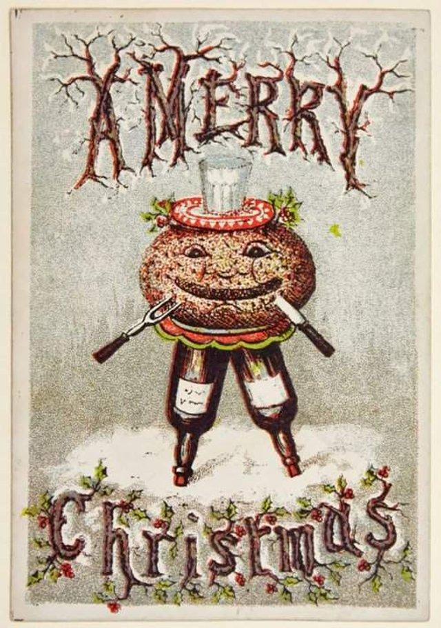 Так виглядали різдвяні листівки у Вікторіанську епоху - фото 296825