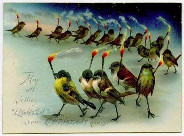 Так виглядали різдвяні листівки у Вікторіанську епоху - фото 296826