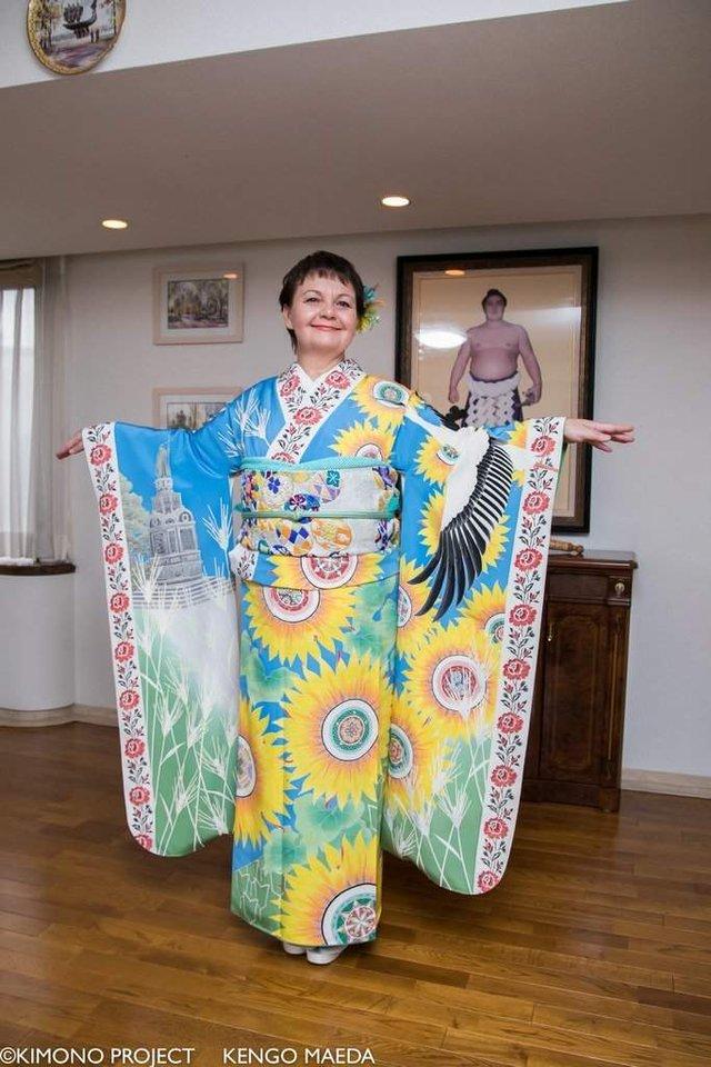 В Японії створили кімоно в українському стилі - фото 297378