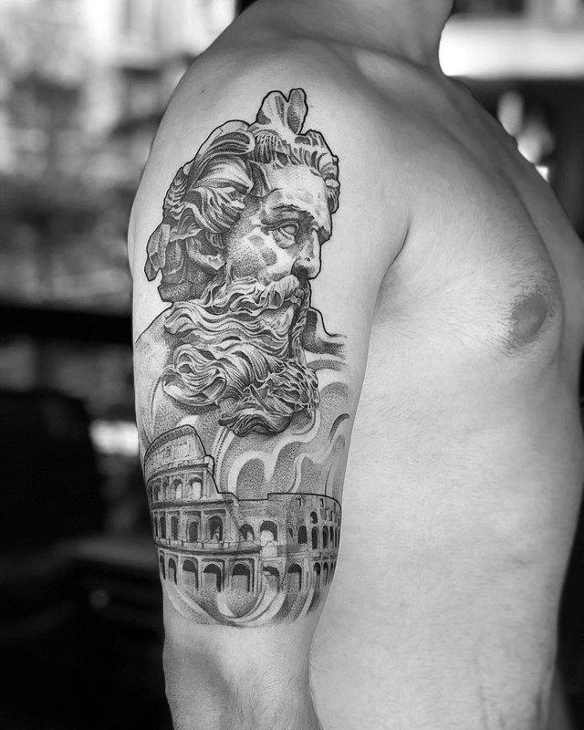 Чорно-білі тату турецького майстра, які нагадують витвори мистецтва - фото 297914