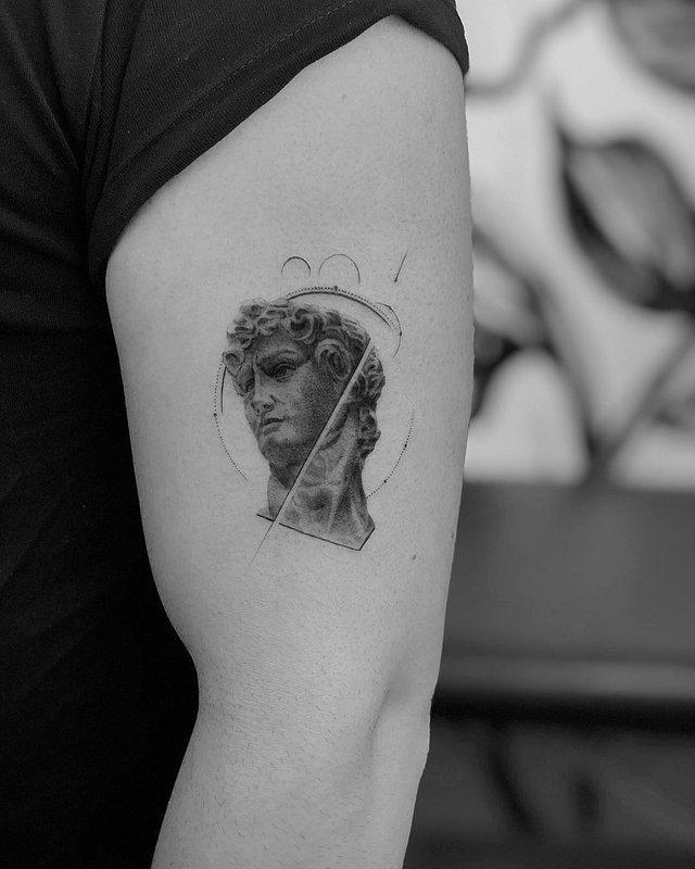 Чорно-білі тату турецького майстра, які нагадують витвори мистецтва - фото 297917