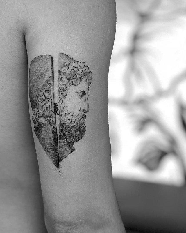 Чорно-білі тату турецького майстра, які нагадують витвори мистецтва - фото 297918