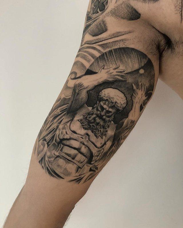 Чорно-білі тату турецького майстра, які нагадують витвори мистецтва - фото 297923