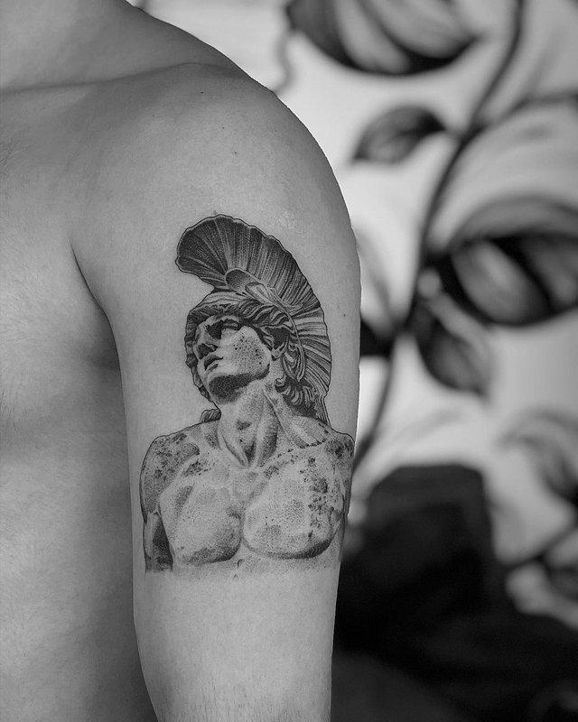 Чорно-білі тату турецького майстра, які нагадують витвори мистецтва - фото 297924