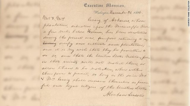 Різдвяний лист президента Лінкольна продали на аукціоні  - фото 297967