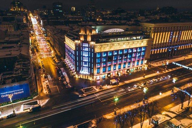 Засніжений Київ з висоти пташиного польоту - фото 297981
