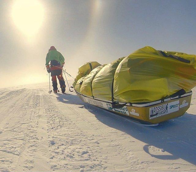Колін О'Бреді пересік Антарктиду наодинці - фото 298061