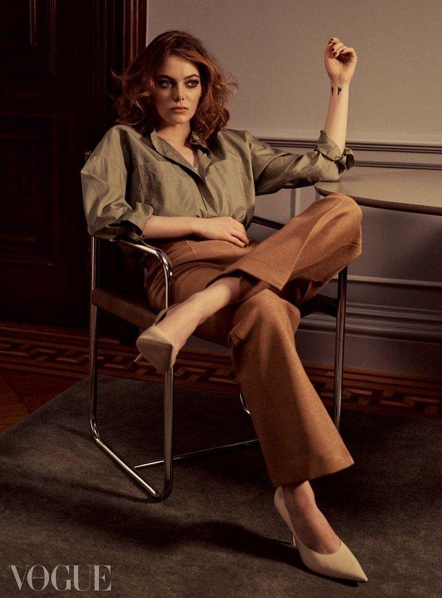 Чарівна Емма Стоун знялася для Vogue - фото 298232