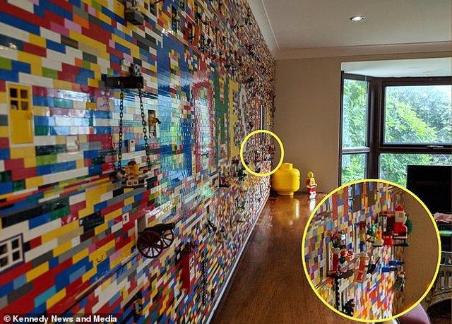Сім'я витратила 10 місяців на те, щоб побудувати справжню стіну з Lego - фото 298554