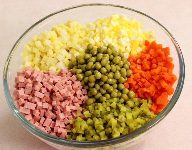 Рецепт класичного салату Олів'є - фото 298785