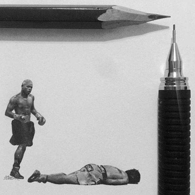 Американець створює мініатюрні малюнки з безліччю деталей - фото 299076
