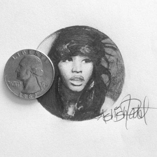 Американець створює мініатюрні малюнки з безліччю деталей - фото 299079
