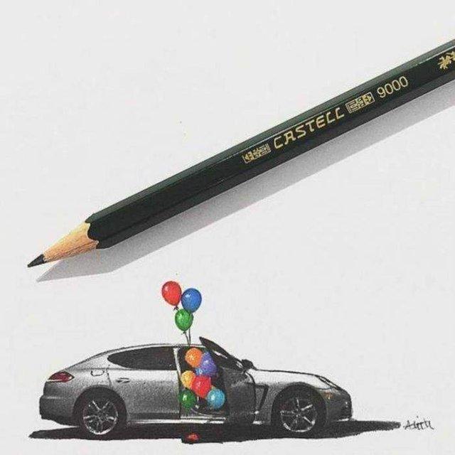 Американець створює мініатюрні малюнки з безліччю деталей - фото 299082