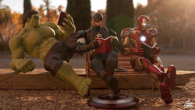 Чим займаються супергерої, коли не рятують світ: епічні фото - фото 299551