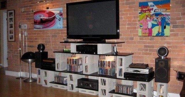 Меблі зі звичайного шлакоблоку: дешеві ідеї - фото 299800
