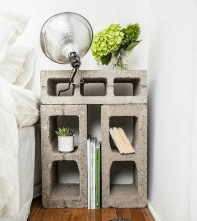 Меблі зі звичайного шлакоблоку: дешеві ідеї - фото 299802