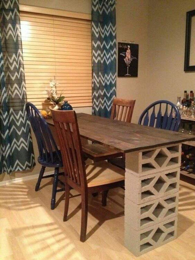 Меблі зі звичайного шлакоблоку: дешеві ідеї - фото 299807