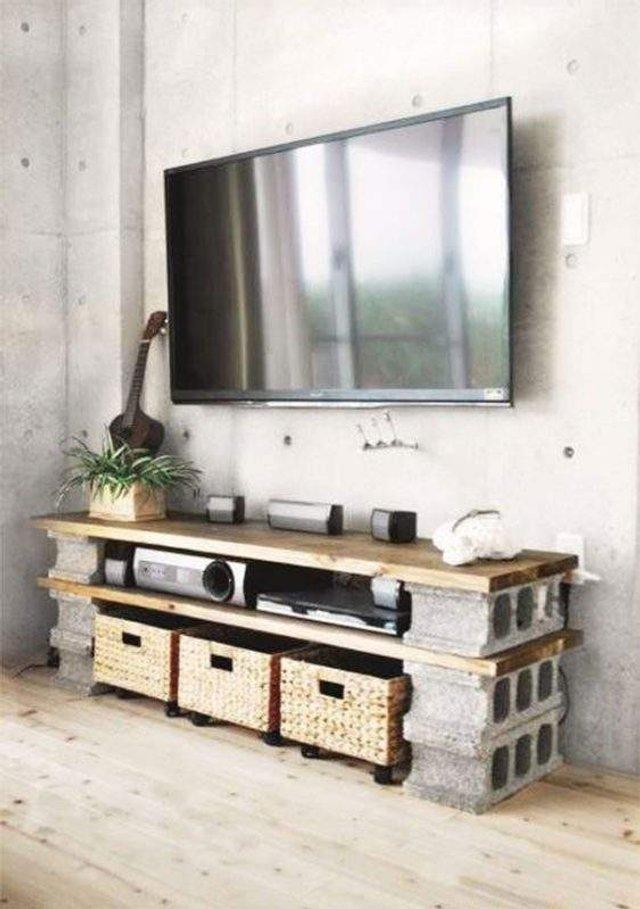 Меблі зі звичайного шлакоблоку: дешеві ідеї - фото 299809